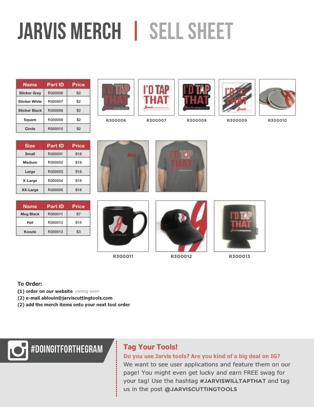 Jarvis Merch Sell Sheet