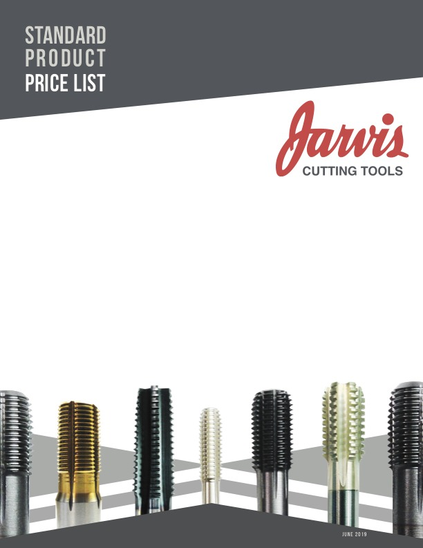 Jarvis Standard Price List