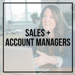 CONTACT SALES AND ACCOUNT MANAGERS